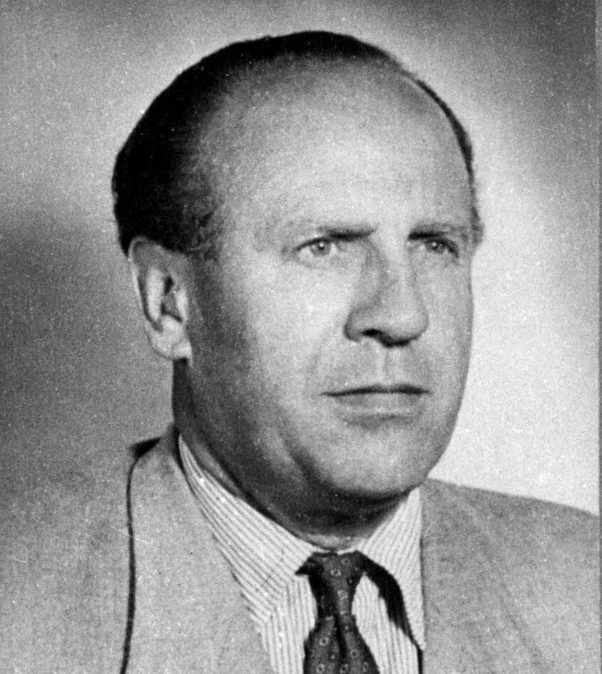 Oskar Schindler, zdjęcie wykonane po wojnie.