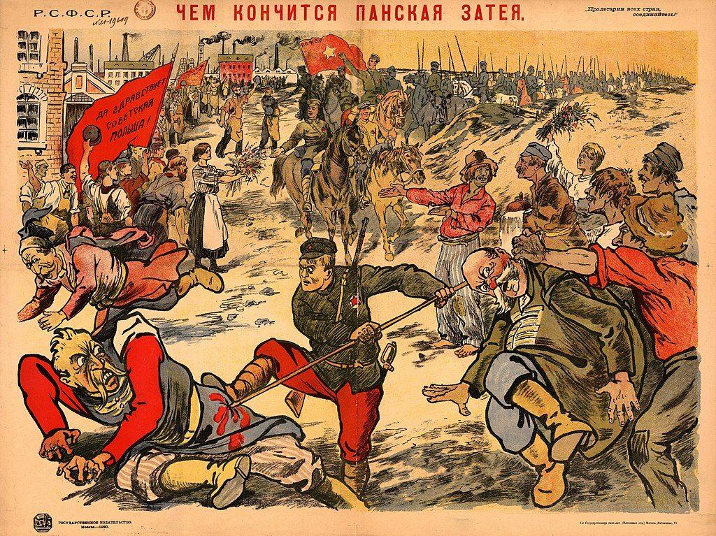 """""""Oto czym kończą się pańskie pomysły"""" – sowiecki plakat propagandowy z 1920"""