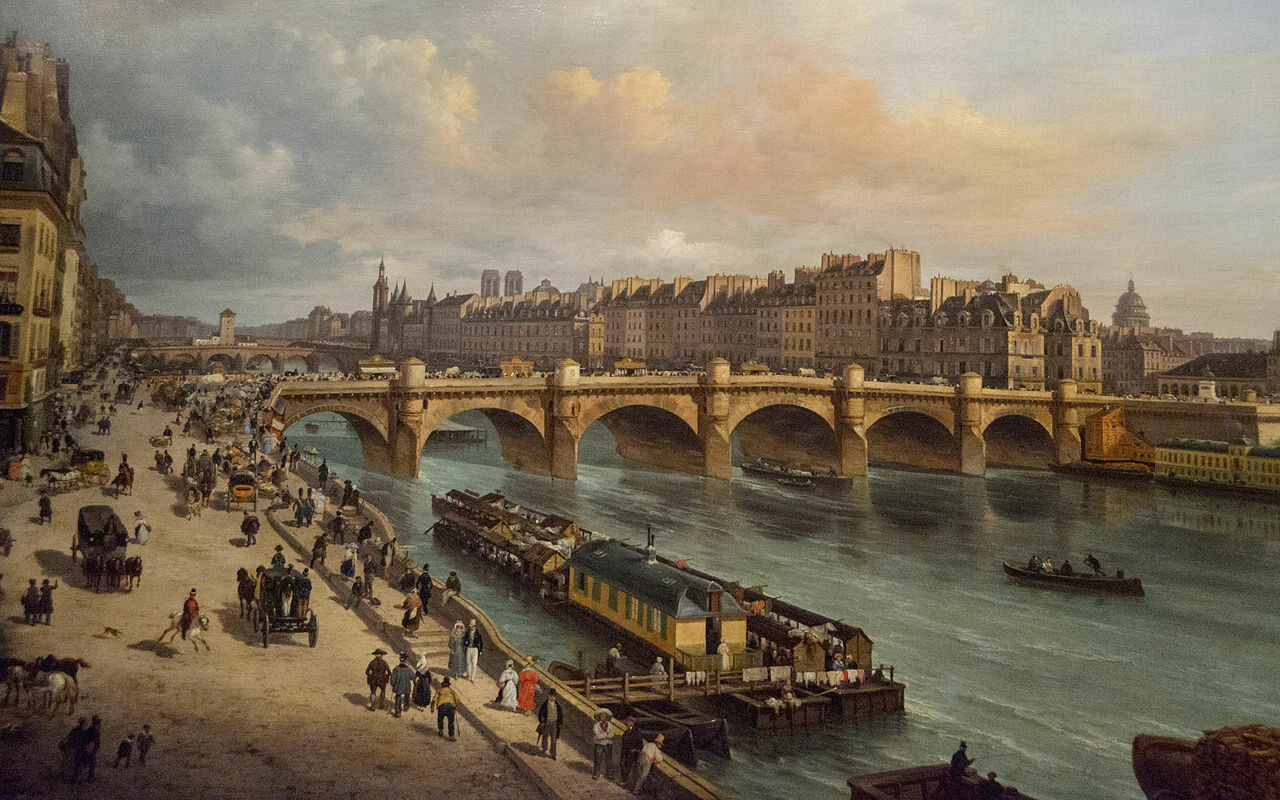 Paryż na obrazie Giuseppe Canella, 1832 r.